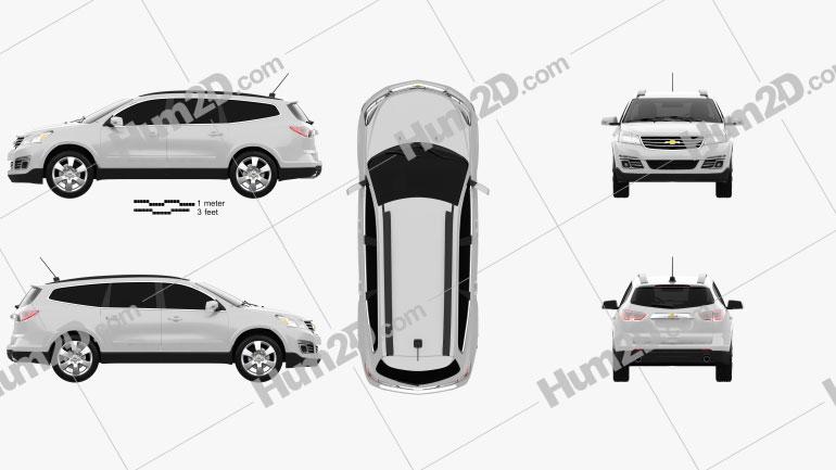 Chevrolet Traverse 2013 Clipart Image