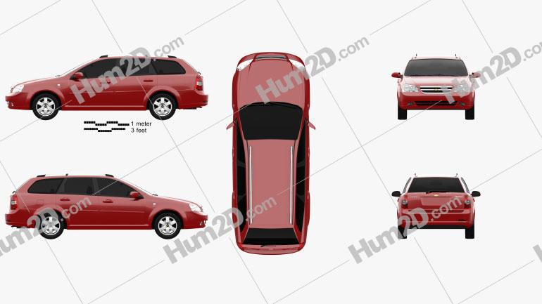 Chevrolet Lacetti Wagon 2011 Clipart Image
