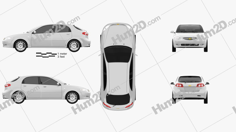 Chevrolet Lacetti Hatchback 2011 Clipart Image