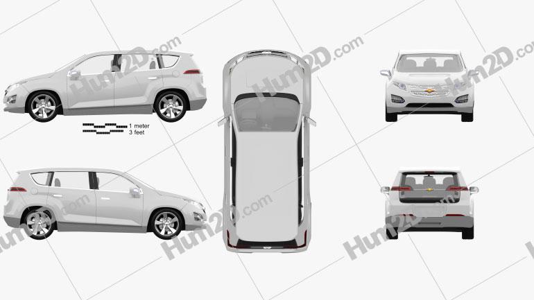 Chevrolet Volt MPV5 2012 Clipart Image