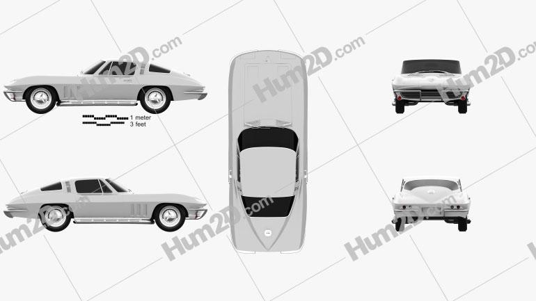 Chevrolet Corvette Sting Ray (C2) 1965 car clipart