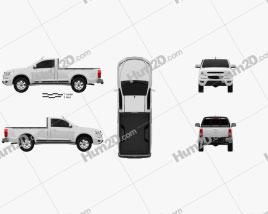 Chevrolet Colorado S-10 Regular Cab 2013 car clipart