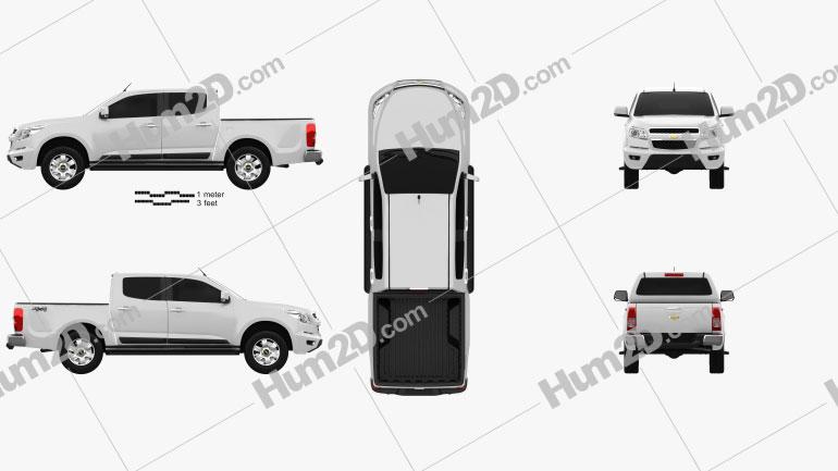 Chevrolet Colorado S-10 Crew Cab 2013 car clipart