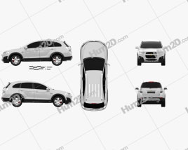 Chevrolet Captiva 2012 car clipart
