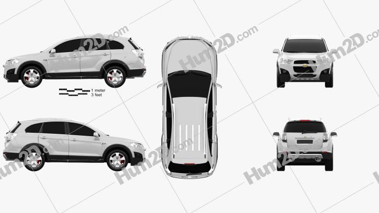 Chevrolet Captiva 2012 Clipart Image