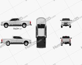 Chevrolet Colorado S-10 Extended Cab 2013 car clipart