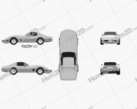 Chevrolet Corvette Stingray (C3) Coupe 1974 car clipart