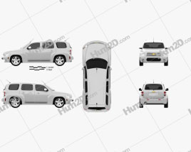 Chevrolet HHR wagon 2011 car clipart