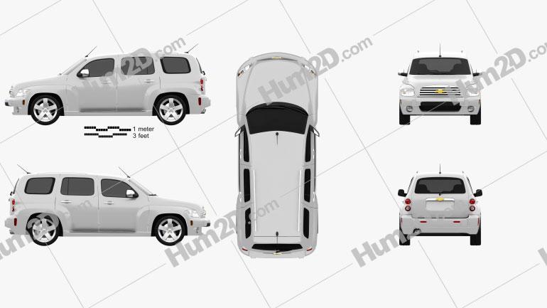 Chevrolet HHR wagon 2011 Clipart Image