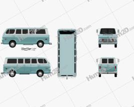 Chevrolet Sport Van 1968 clipart