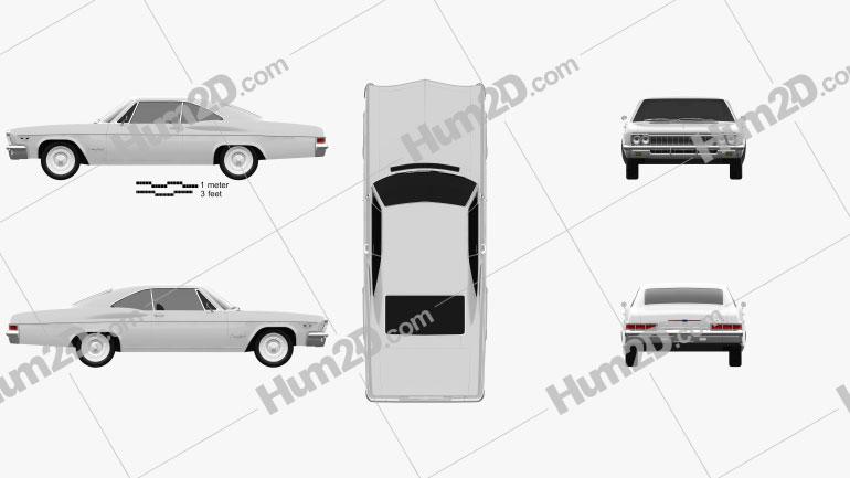 Chevrolet Impala SS Sport Coupe 1966 car clipart