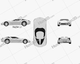 Chevrolet Stingray concept 2009 car clipart