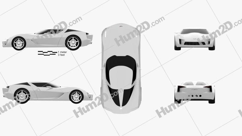 Chevrolet Stingray concept 2009 Clipart Image