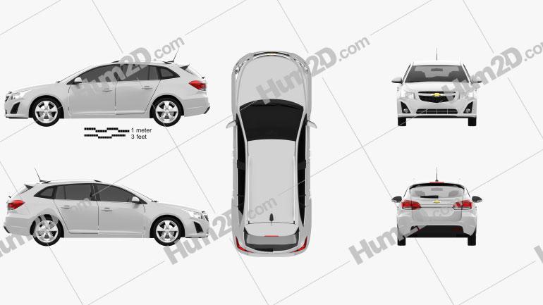 Chevrolet Cruze Wagon 2012 car clipart