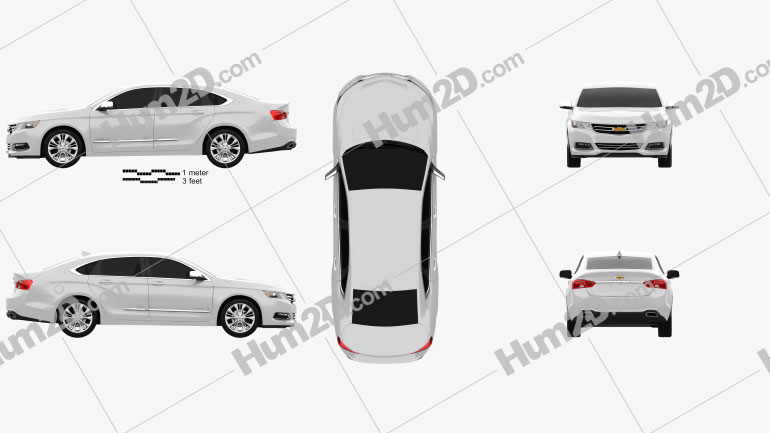 Chevrolet Impala 2014 car clipart