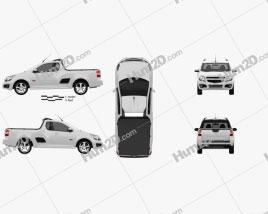Chevrolet Montana (Tornado) 2012 car clipart