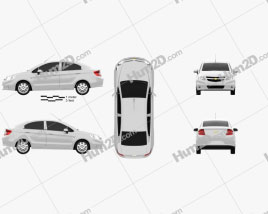 Chevrolet Sail sedan 2011 car clipart