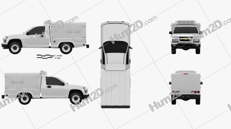 Chevrolet Colorado Hotshot I 2011 Clipart Image