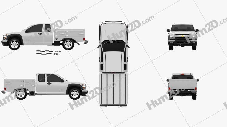 Chevrolet Colorado Hotshot I Lowboy 2011 Clipart Image