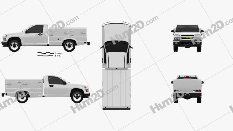 Chevrolet Colorado Hotshot II Lowboy 2011 car clipart