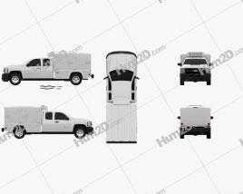 Chevrolet Silverado Hotshot II XL 2011 car clipart