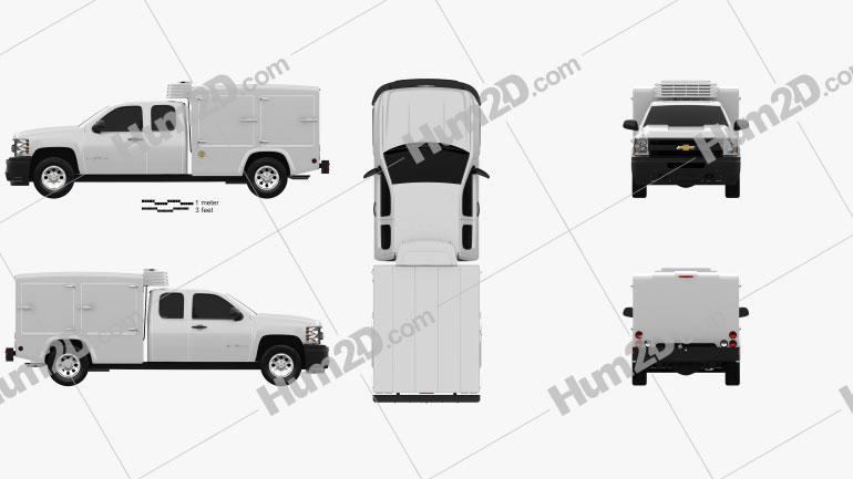 Chevrolet Silverado Hotshot II XL 2011 Clipart Image