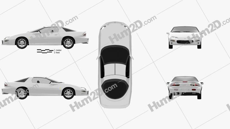 Chevrolet Camaro coupe 2000 car clipart