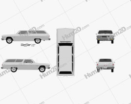 Chevrolet Chevelle (Malibu) 2-door wagon 1964 car clipart