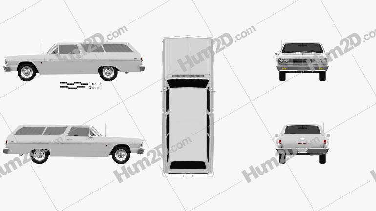 Chevrolet Chevelle (Malibu) 2-door wagon 1964