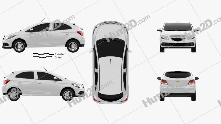 Chevrolet Onix 2013 car clipart