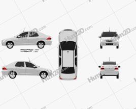 Chevrolet Prisma 2013 car clipart
