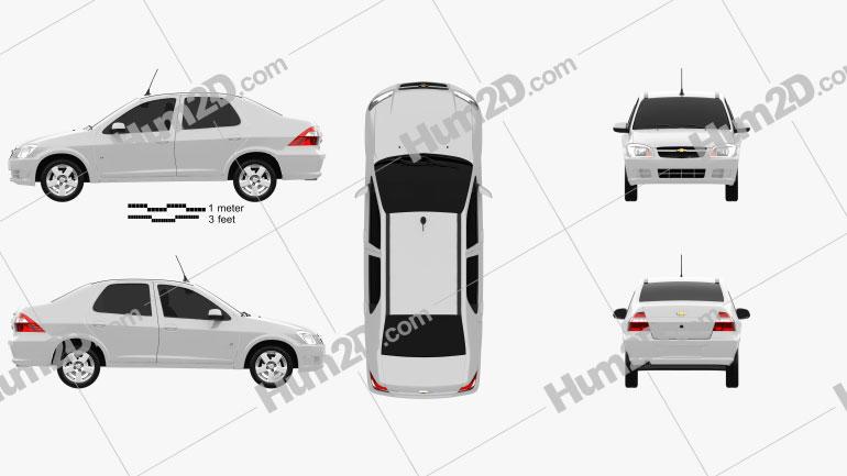 Chevrolet Prisma 2013 Clipart Image
