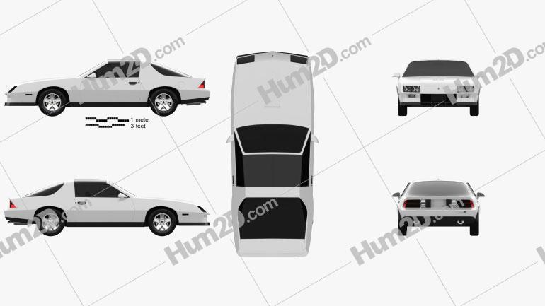 Chevrolet Camaro Z28 coupe 1982 Clipart Image