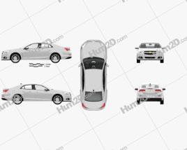 Chevrolet Malibu with HQ interior 2013 car clipart