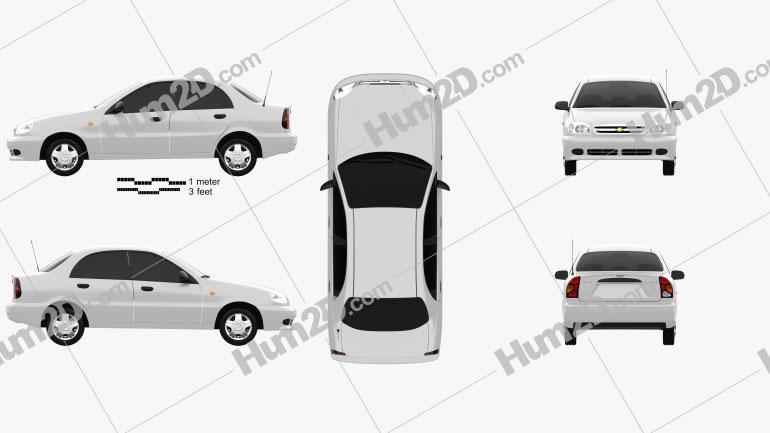 Chevrolet Lanos 2012 Clipart Image