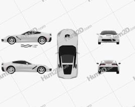 Chevrolet Corvette Stingray (C7) Coupe 2014 car clipart