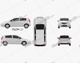 Chevrolet Sail hatchback 2012 car clipart