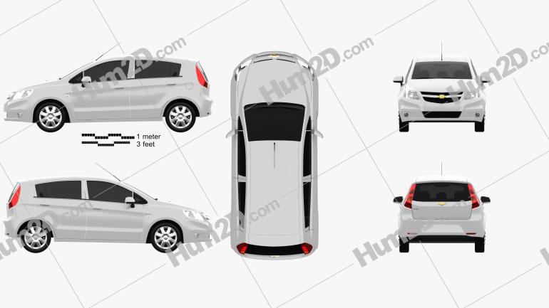 Chevrolet Sail hatchback 2012 Clipart Image