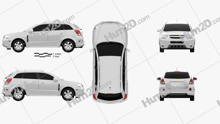 Chevrolet Captiva (Brazil) 2012 Clipart Image