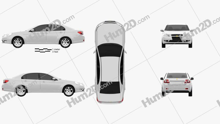 Chevrolet Epica (CN) 2012 Clipart Image