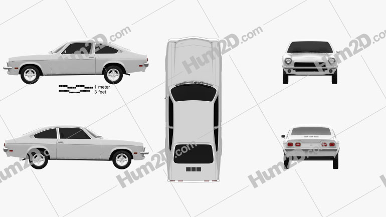 Chevrolet Vega hatchback 1971 car clipart