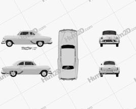 Chevrolet 210 Club Coupe 1953 car clipart