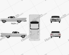 Chevrolet El Camino 1959 car clipart