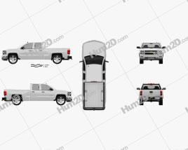 Chevrolet Silverado Extended Cab Z71 2014 car clipart