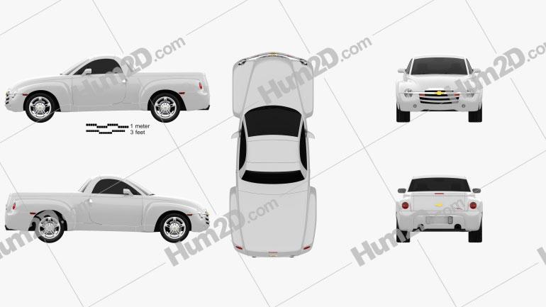 Chevrolet SSR 2003 Clipart Image