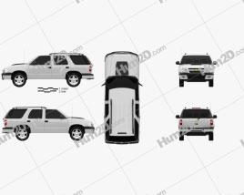 Chevrolet Blazer (BR) 2008 car clipart