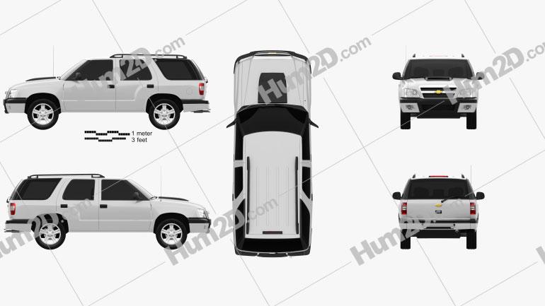 Chevrolet Blazer (BR) 2008 Clipart Image