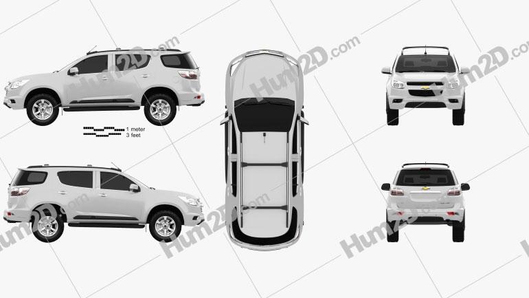 Chevrolet Trailblazer 2012 car clipart