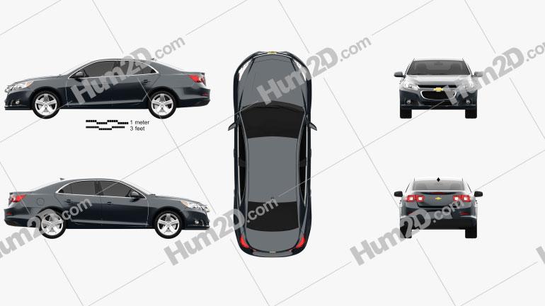 Chevrolet Malibu 2013 Clipart Image