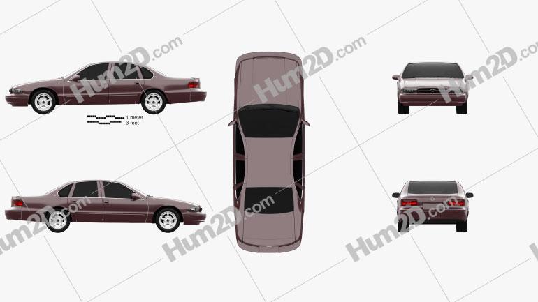 Chevrolet Impala SS 1995 car clipart